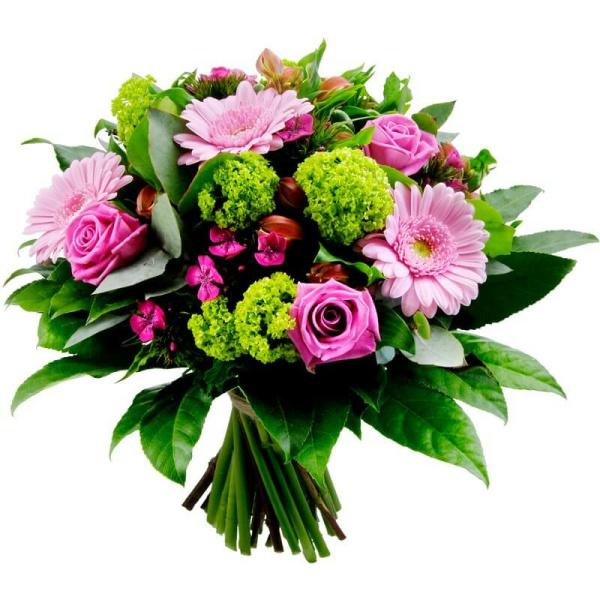 Bouquet de Flores misto cor-de-rosa