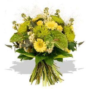 Bouquet de flores Verde e Amarelo