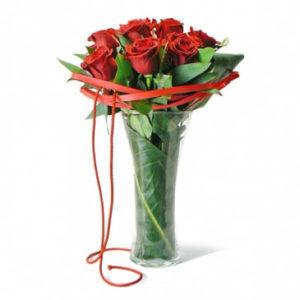 Jarra Bouquet 12 Rosas
