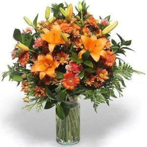 Jarra de Flores Mix Laranja