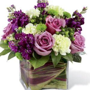 Cubo de Flores roxo