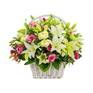 Cesta de Flores Alegria