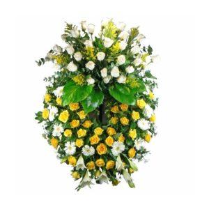 Coroa de Flores Branca e Amarela